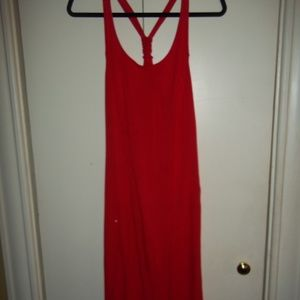 M OLD NAVY JERSEY KNIT FLARE MIDI DRESS RACERBACK